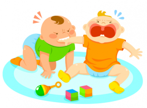 Jaloers op baby